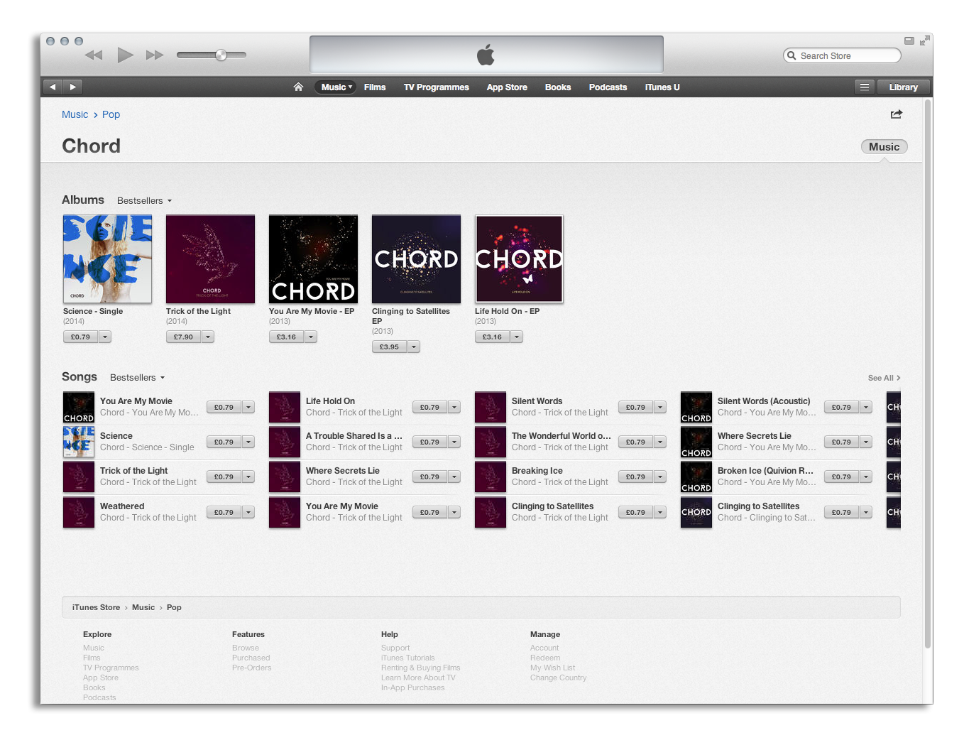 Chord Discography on iTunes
